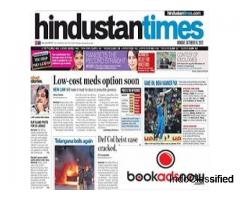 Advertise in One of India's Top English Dailies