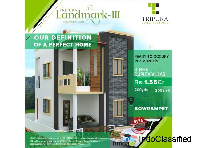 3BHK Villas for Sale in Bowrampet | Tripura Landmark-3
