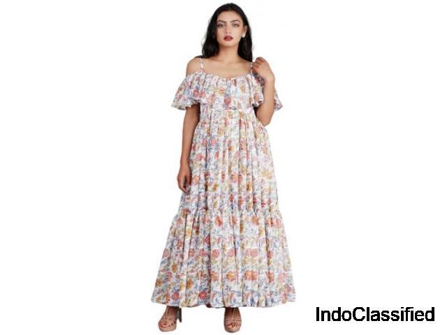 Buy White Maxi Dresses Flipkart