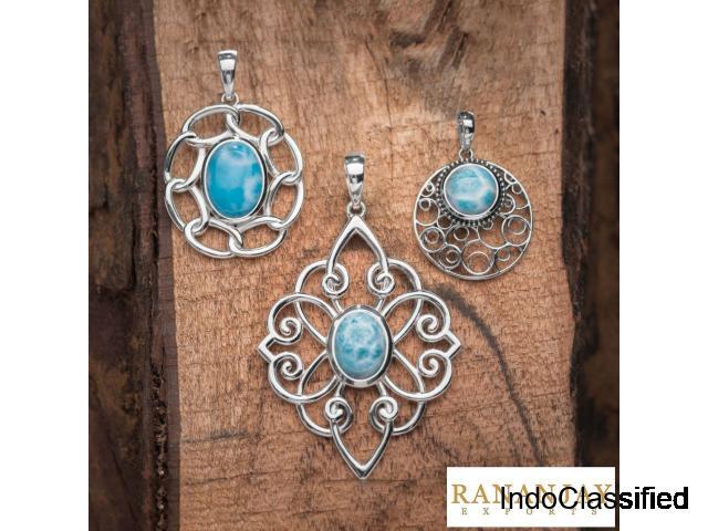 925 Sterling Silver Larimar Jewelry