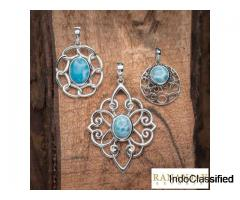 925 Sterling Silver Larimar Jewelry