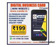 Lifetime Digital Business Card Mini Website