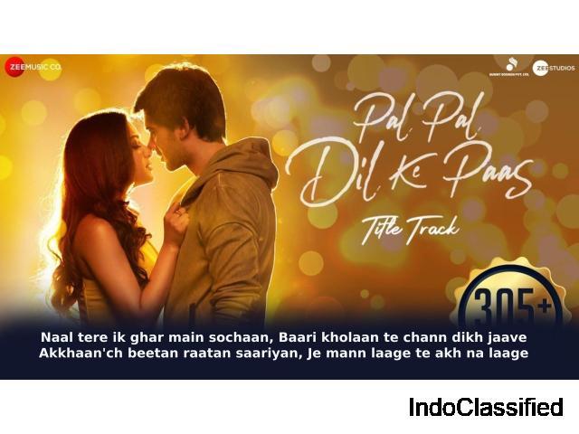 Rehna Tu Pal Pal Dil Ke Pass Lyrics in Hindi - Arijit Singh