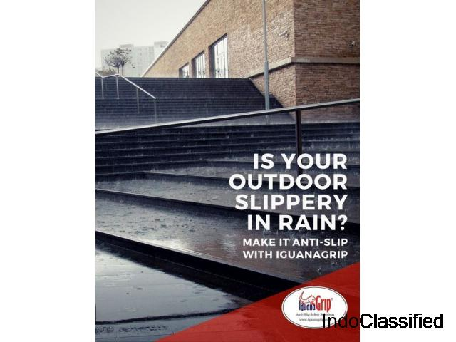 Is your outdoor slippery in rain? Make it antislip with iguanagrip