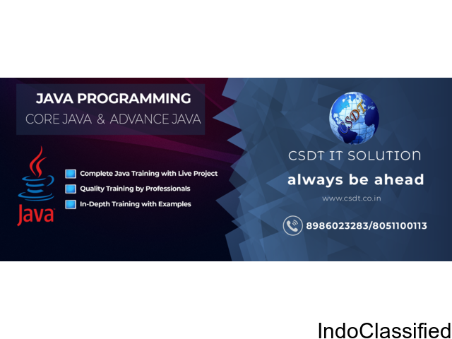 BEST Java/J2ee Training IN PATNACSDT ,Provides,Introduction to Software Development Training in Java