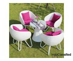 Wicker Outdoor Garden Chairs , Table