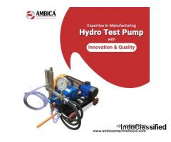 High Performance Hydro Test Pump for Industrial Needs