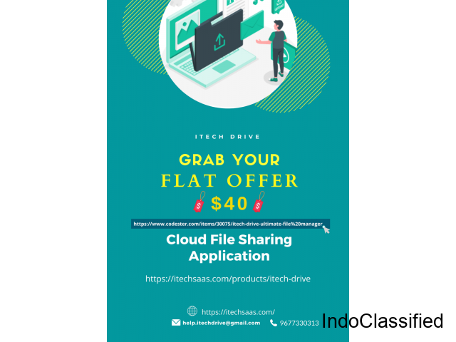 Itechsaas team announced one best iTech Drive Cloud Sharing File Application offer Flat $40