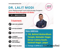 Experienced orthopedic Surgeon Dr. Lalit Modi provide Knee Replacement Surgery in Jaipur