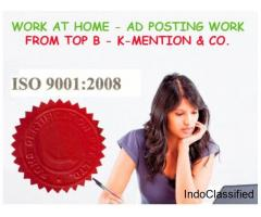Simple Home based ads posting work call 9898665104 - Chhattisgarh