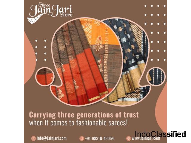 Buy Kota Silk Saree   Kota Silk Sarees   Pure Kota Silk Saree   Jain Jari Store