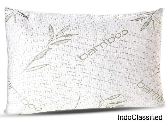 Memory Foam Pillow with Washable Case - Queen Size Pillow (Queen)