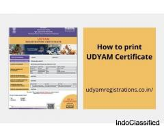 How to print Udyam certificate ?