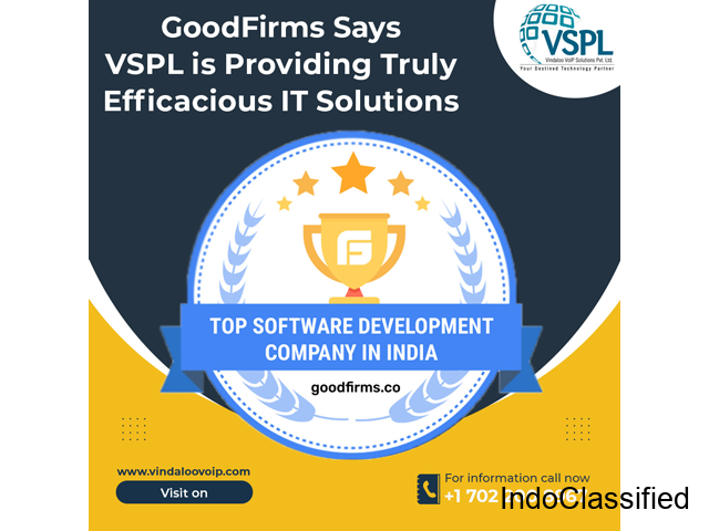 GoodFirms Says VSPL is Providing Truly Efficacious IT Solutions