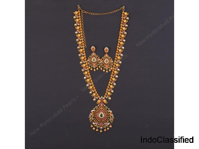 Long Haaram Set Designs available at New Hyderabad Pearls