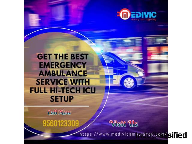Most Optimum ICU Medivic Ambulance Service in Danapur, Patna