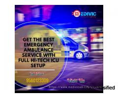Most Optimum ICU Medivic Ambulance Service in Danapur, Patna