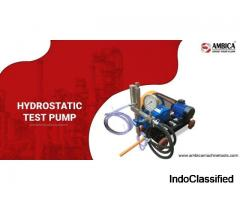 Buy Hydrostatic Test Pump at Best Price in India