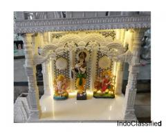 Buy Carved Marble Golden & Meenakari Temples