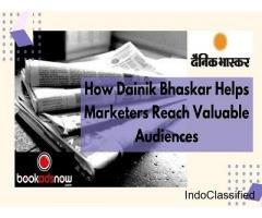 Post a Dainik Bhaskar Obituary Advertisement at Bookadsnow