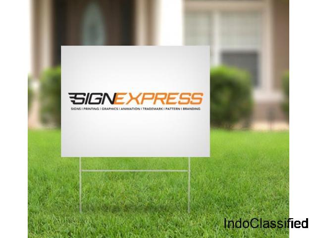 Yard sign | Custom Yard Sign | Lawn Sign & Yard Sign Stand