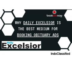 Book Obituary Ads at Daily Excelsior Now
