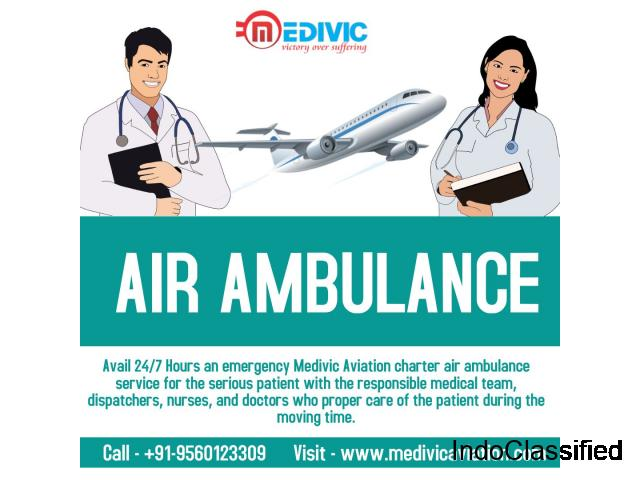 Trustful Charter Emergency Air Ambulance Services in Gorakhpur by Medivic