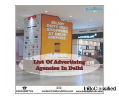 Find us in best list of advertising agencies in delhi