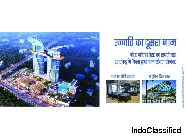 Buy Commercial Office & Retail Space Bhutani Grandthum in Noida Extension