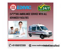 24 *7 Emergency Patient Transfer Ambulance Service in Darbhanga by Medivic Ambulance