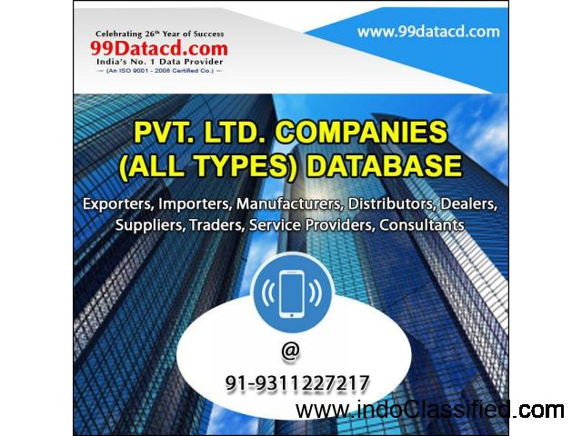Private Limited Companies Database – 9311227217 - 1