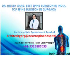 Dr. Hitesh Garg, Best spine surgeon in India, Top Spine surgeon in Gurgaon