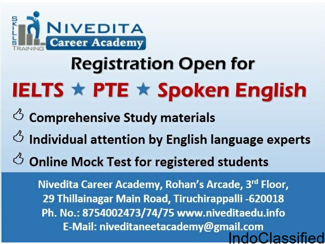 IELTS/ PTE/ Spoken English course at Nivedita Academy