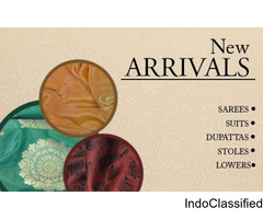New Collection of Silk Stoles and Sarees