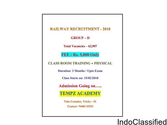 RAILWAY RCRUITMENT GROUP D EXAM COACHING TRICHY