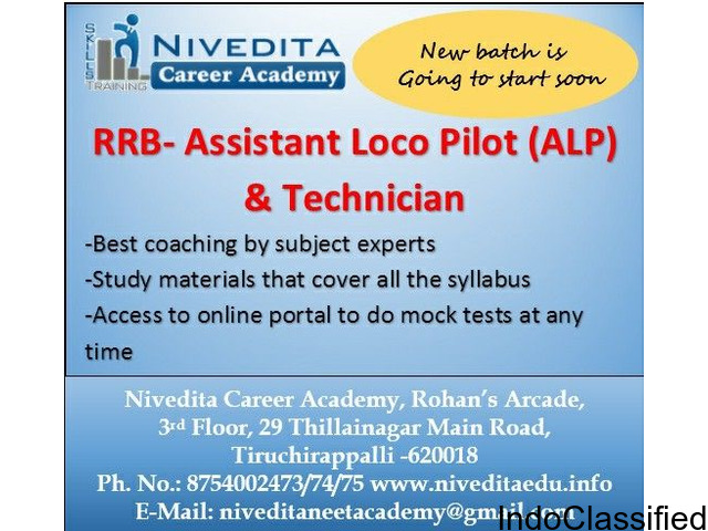 Assistant Loco Pilot- ALP coaching class at Nivedita Academy