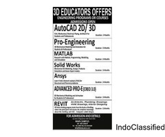 3d EDUCATORS OFFERS ENGINEERING PROGRAMS OR COURSES ADMISSION OPEN