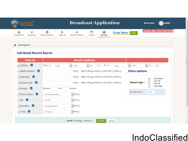 VoiceBroadcast & SMS Broadcast Applications