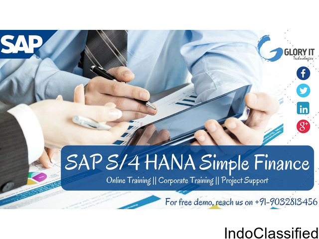 Thrive in a digital world with SAP S4 HANA SImple Finance Online Training by Glory IT Technologies