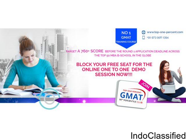Top One Percent - Best GMAT Coaching Colleges in  India