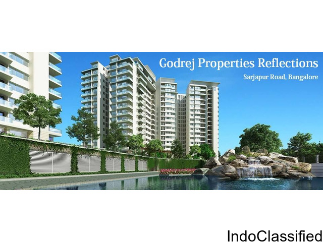 Godrej Reflections Sarjapur Road Bangalore with Lake facing apartments