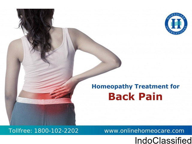 BACK PAIN CAN BE AVOIDED BY HOMEOPATHY