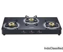 Buy prestige glass top 3 burner gas stove from nbhomeshop