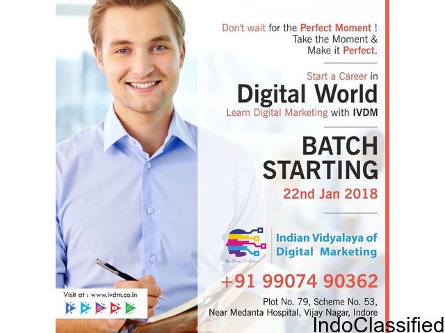 Learn SEO, PPC and Social Media Training at IVDM Indore