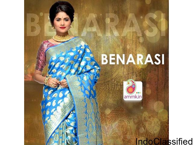 Buy Silk Sarees Online, Benarasi, Chiffon, Dhakai Jamdani saree & many more