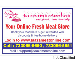 20% extra & Free home delivery of  chicken, mutton, fish, pork